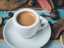 Cup of espresso in morning sunlight Stock Photography