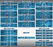 Cup EURO 2016 final match schedule. Football European Championship Soccer. Cup EURO 2016 final match schedule. Football European Championship Soccer final Stock Photos