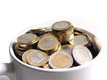 cup euroen Arkivfoto