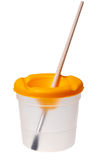 Cup für Pinsel Stockbild