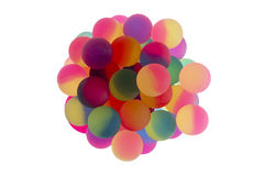 Cup filled with bicolor plastic balls Stock Photography