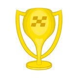 Cup for first place icon, cartoon style Stock Photography