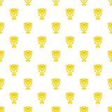 Cup for first place pattern, cartoon style Stock Photography