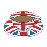 Cup with a flag of Great Britain. The cup with a flag of Great Britain Royalty Free Stock Photo