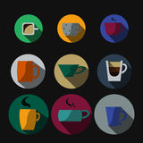 Cup in flat style Stock Image