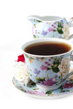 Cup of flavor tea Stock Image