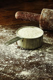 A cup of flour Stock Photo