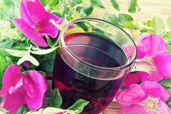 Cup of flowering tea Stock Photos