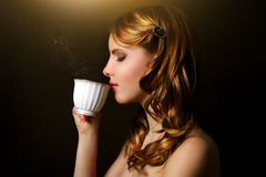Cup Of Fragrant Coffee Stock Photo