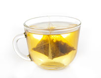A cup of fragrant green tea with a teab Royalty Free Stock Image