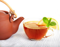 Cup of fragrant tea Stock Images