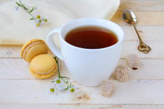 Cup of fragrant tea with sugar Stock Images