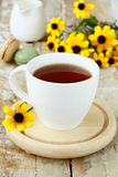 Cup of fragrant tea with sugar Stock Photo