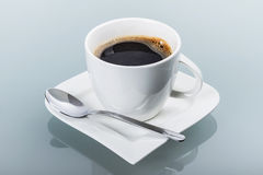 Cup of fresh black coffee Stock Images