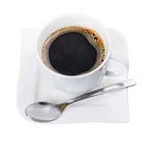 Cup of fresh black coffee isolated Stock Photos