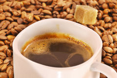 Cup of fresh brewed coffee Stock Photo