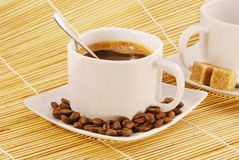 Cup of fresh brewed coffee Royalty Free Stock Photo