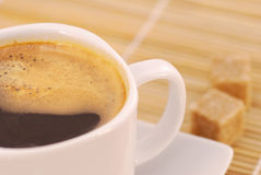 Cup of fresh brewed coffee Royalty Free Stock Photos