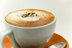 a cup of fresh cappuccino Stock Images