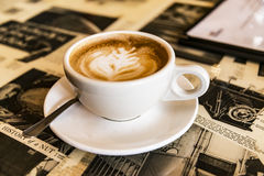 Cup of fresh cappuccino Stock Image