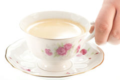 A cup of fresh coffee. Stock Images