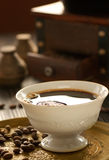 Cup of fresh coffee stock image