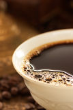 Cup of fresh coffee royalty free stock photography