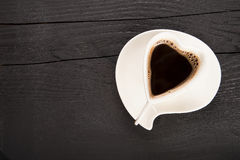 Cup of fresh coffee with heart sign Royalty Free Stock Image