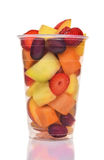 Cup of Fresh Cut Fruit Stock Photo
