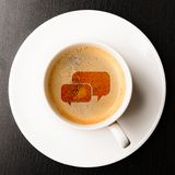 Cup of fresh espresso Royalty Free Stock Images