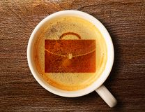 Cup of fresh espresso on table Stock Photography