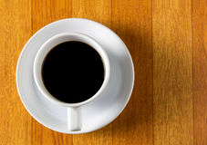 cup of fresh espresso on table Royalty Free Stock Image
