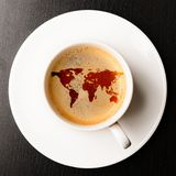 Cup of fresh espresso Stock Images