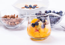 Cup of fresh fruits Royalty Free Stock Image