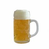 Cup of fresh light beer Stock Photo