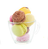 Cup  of fresh  macaroons Royalty Free Stock Images