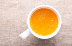 Cup of fresh orange juice Royalty Free Stock Photography