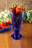 Cup with fresh strawberries Stock Photo