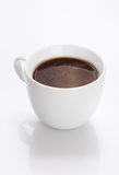 Cup of fresh strong black coffee Stock Image