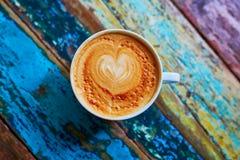 Cup frischer Kaffee Stockbild