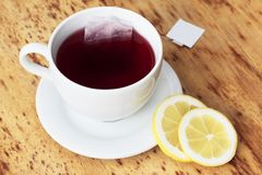 Cup of  fruit tea Stock Images