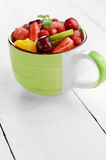 Cup with fruits Stock Photography