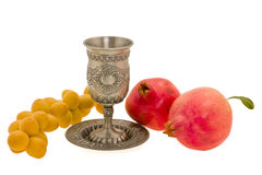 Cup and fruits Stock Photo