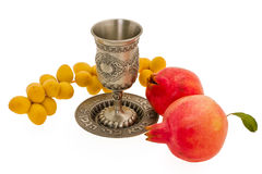 Cup and fruits Royalty Free Stock Images