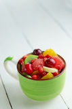 Cup with fruits Stock Image