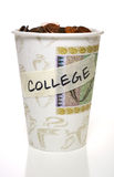 Cup full of change, College Stock Image