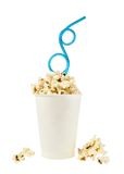 Cup full of popcorn Royalty Free Stock Images