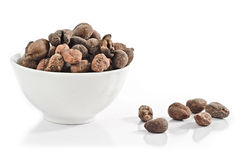 Cup full of shea nuts Stock Image