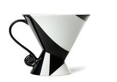 Cup with geometrical ornament. Over white background stock photos