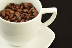 Cup gerösteter Kaffee Stockfotos